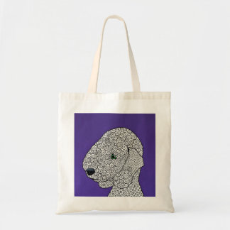Bedlington Terrier Dog - Abstract Art Tote Bag