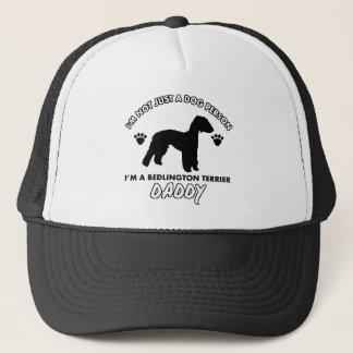 bedlington terrier  Dog Daddy Trucker Hat