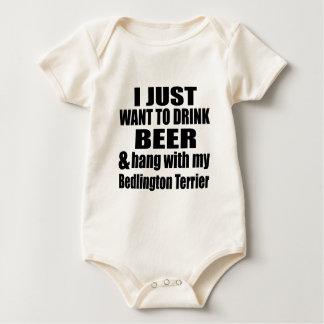 Bedlington Terrier Dog Designs Baby Bodysuit