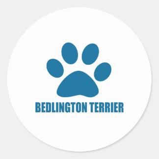 BEDLINGTON TERRIER DOG DESIGNS CLASSIC ROUND STICKER