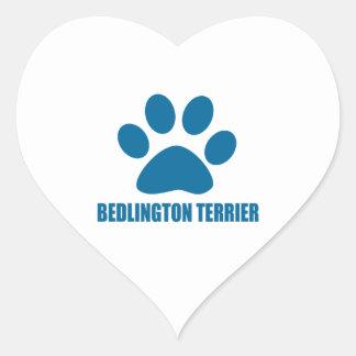 BEDLINGTON TERRIER DOG DESIGNS HEART STICKER