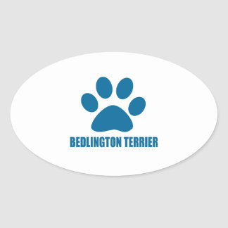 BEDLINGTON TERRIER DOG DESIGNS OVAL STICKER
