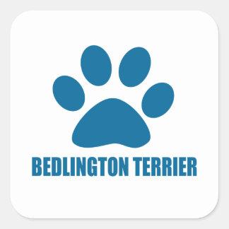 BEDLINGTON TERRIER DOG DESIGNS SQUARE STICKER