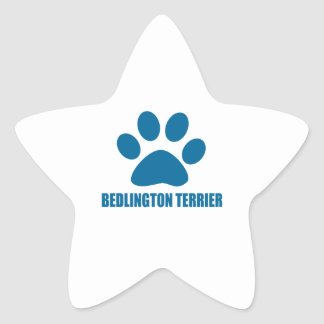 BEDLINGTON TERRIER DOG DESIGNS STAR STICKER