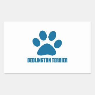 BEDLINGTON TERRIER DOG DESIGNS STICKER