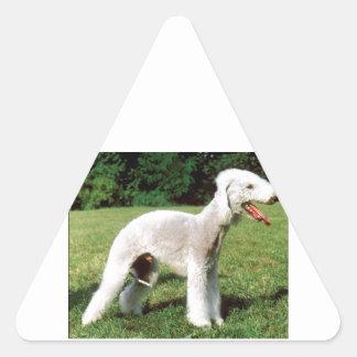 Bedlington Terrier Dog Triangle Sticker