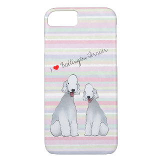 Bedlington Terrier Illustrated Cell Phone Case