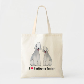 Bedlington Terrier Illustrated Tote Bag