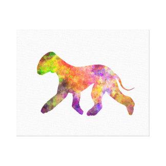 Bedlington Terrier in watercolor 2 Canvas Print