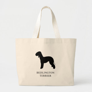 Bedlington Terrier Large Tote Bag