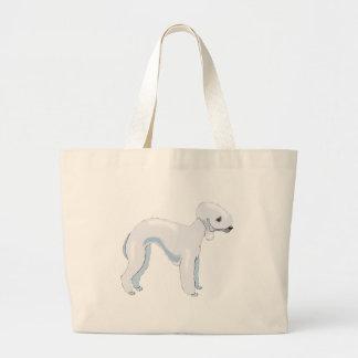 Bedlington Terrier Large Tote Bag