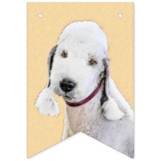 Bedlington Terrier Painting - Cute Original Dog Ar Bunting Flags