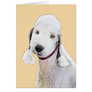 Bedlington Terrier Painting - Cute Original Dog Ar Card