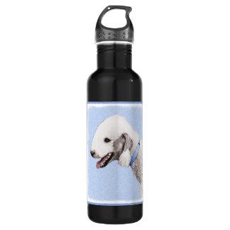 Bedlington Terrier Painting - Original Dog Art 710 Ml Water Bottle
