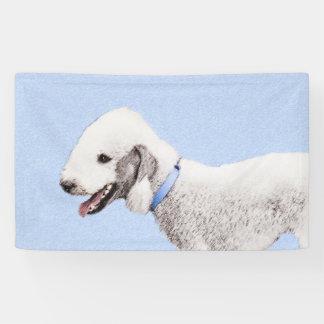 Bedlington Terrier Painting - Original Dog Art Banner