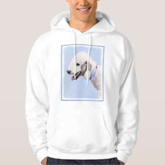 Bedlington Terrier Painting - Original Dog Art Hoodie