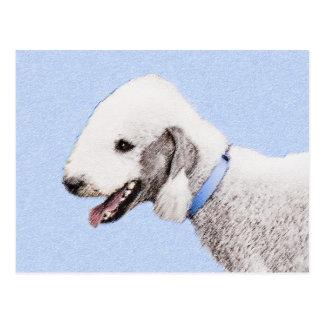 Bedlington Terrier Painting - Original Dog Art Postcard