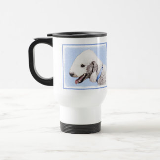 Bedlington Terrier Painting - Original Dog Art Travel Mug