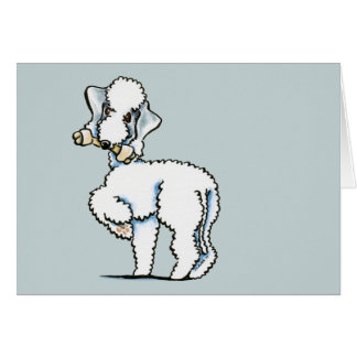 Bedlington Terrier Rosie Card