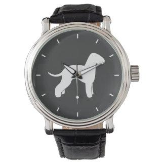 Bedlington Terrier Silhouette Wristwatches