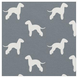 Bedlington Terrier Silhouettes Pattern Fabric