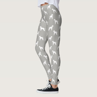 Bedlington Terrier Silhouettes Pattern Leggings