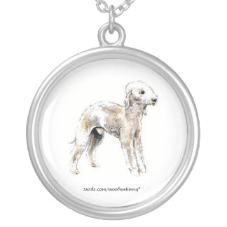 Bedlington Terrier Silver Plated Necklace
