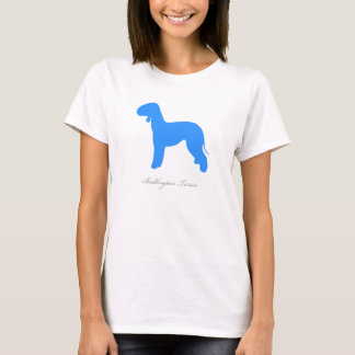 Bedlington Terrier T-shirt (blue silhouette)