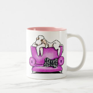 Bedlington Terrier Tiko Two-Tone Coffee Mug