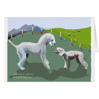 Bedlington Terriers - Meeting your Hero Card