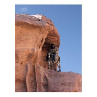 Bedouin in Petra Postcard