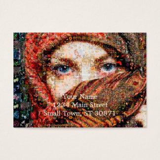 Bedouin woman-bedouin girl-eye collage-eyes-girl business card
