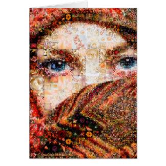 Bedouin woman-bedouin girl-eye collage-eyes-girl card
