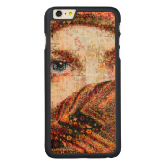 Bedouin woman-bedouin girl-eye collage-eyes-girl carved maple iPhone 6 plus case