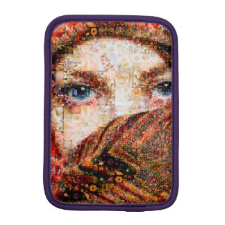 Bedouin woman-bedouin girl-eye collage-eyes-girl iPad mini sleeve