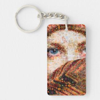 Bedouin woman-bedouin girl-eye collage-eyes-girl keychain