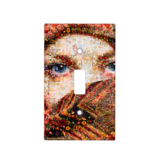 Bedouin woman-bedouin girl-eye collage-eyes-girl light switch cover