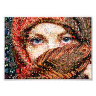 Bedouin woman-bedouin girl-eye collage-eyes-girl photo print