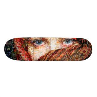 Bedouin woman-bedouin girl-eye collage-eyes-girl skateboard deck
