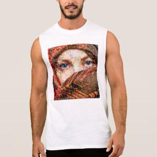 Bedouin woman-bedouin girl-eye collage-eyes-girl sleeveless shirt