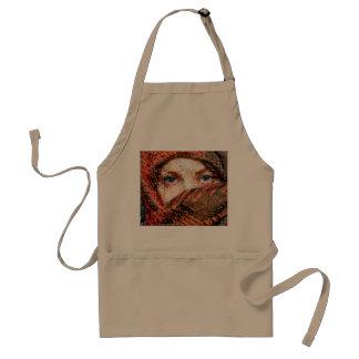 Bedouin woman-bedouin girl-eye collage-eyes-girl standard apron