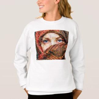 Bedouin woman-bedouin girl-eye collage-eyes-girl sweatshirt