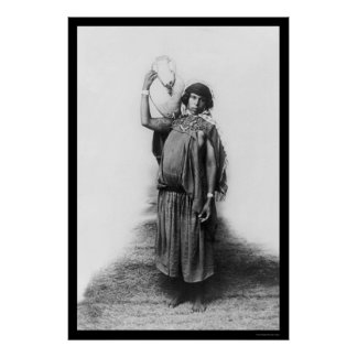 Bedouin Woman in Tunis, Tunisia 1920 Poster
