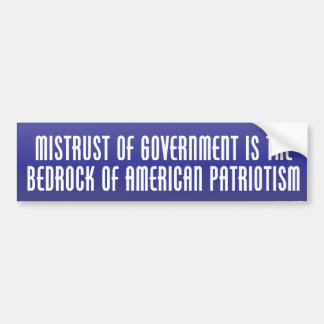 Bedrock of Patriotism Bumper Sticker