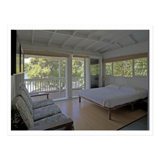 Bedroom at the Seaside Zen Cottage in Kona Postcard