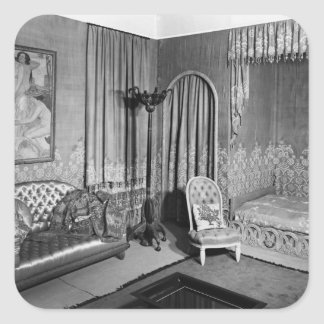 Bedroom belonging to Jeanne Lanvin  c.1920-25 Square Stickers