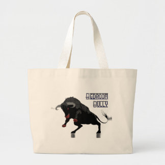 bedroom bully (dots) large tote bag