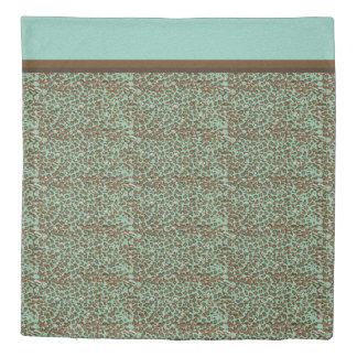 Bedroom Decor Snow Leopard Animal Skin Print Brown Duvet Cover