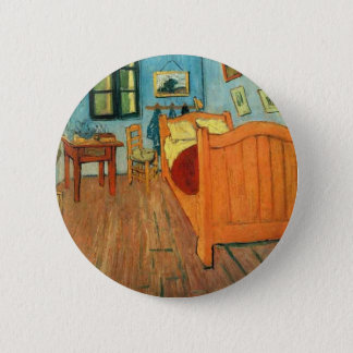 Bedroom in Arles by Vincent Van Gogh 2 Inch Round Button