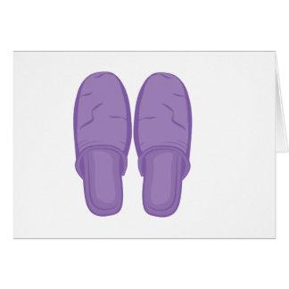 Bedroom Slippers Card
